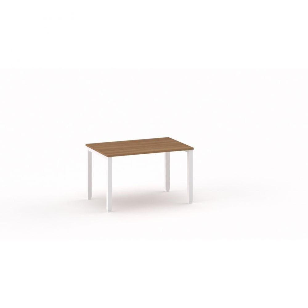 Bureau droit individiuel Mario / Poirier / Longueur 120 cm / Piétement argenté