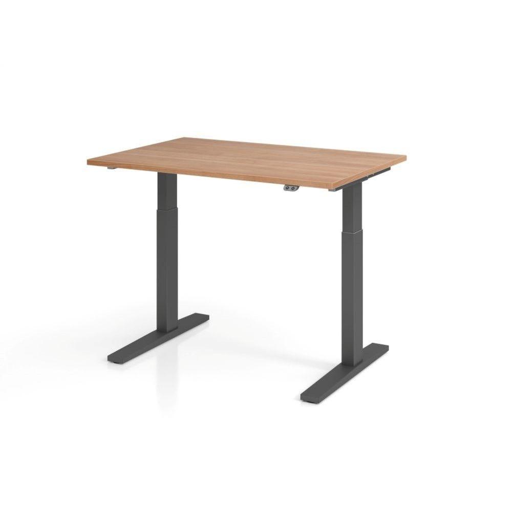 Bureau assis-debout contemporain Ezra / Noyer / Longueur 120 cm / Graphite