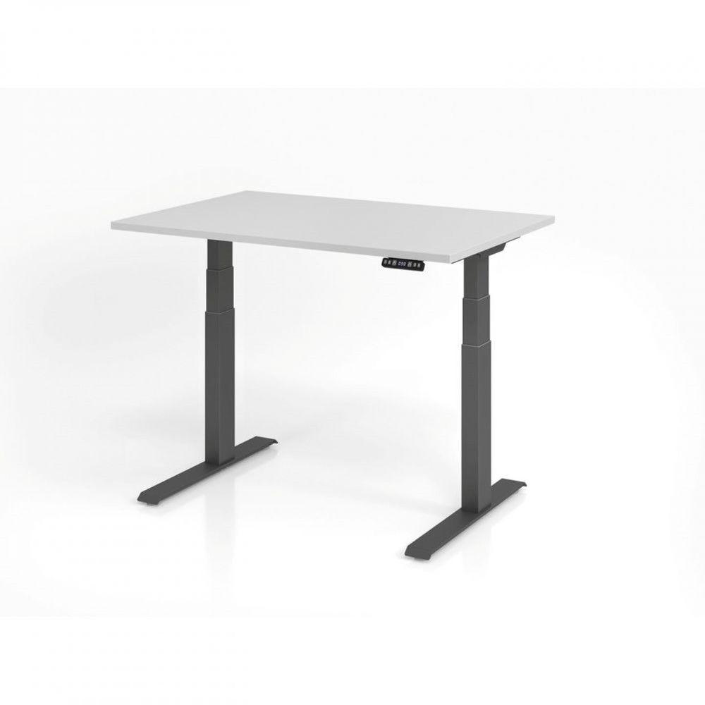 Bureau assis-debout contemporain Jorge / Gris / Longueur 120 cm / Graphite