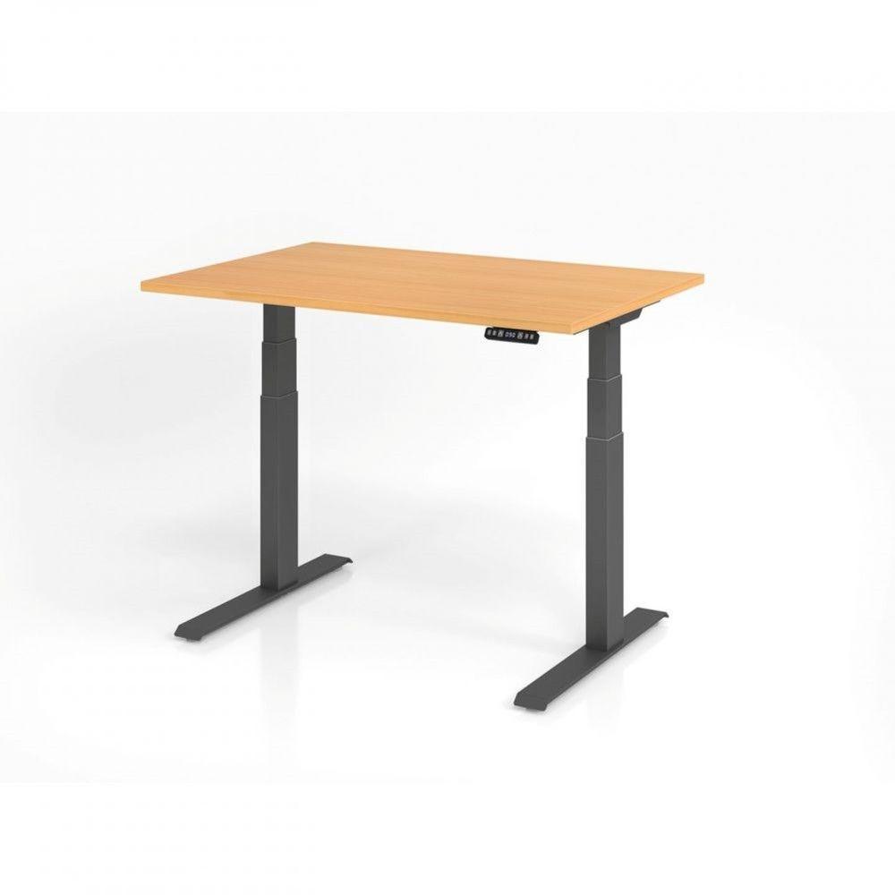Bureau assis-debout contemporain Jorge / Hêtre / Longueur 120 cm / Graphite