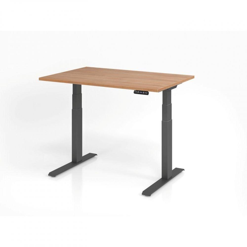 Bureau assis-debout contemporain Jorge / Noyer / Longueur 120 cm / Graphite