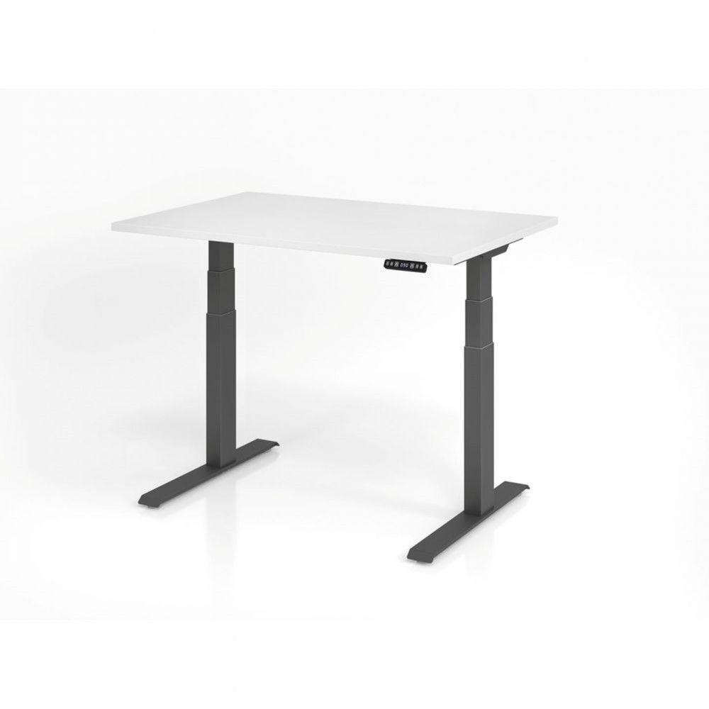 Bureau assis-debout contemporain Jorge / Blanc / Longueur 120 cm / Graphite