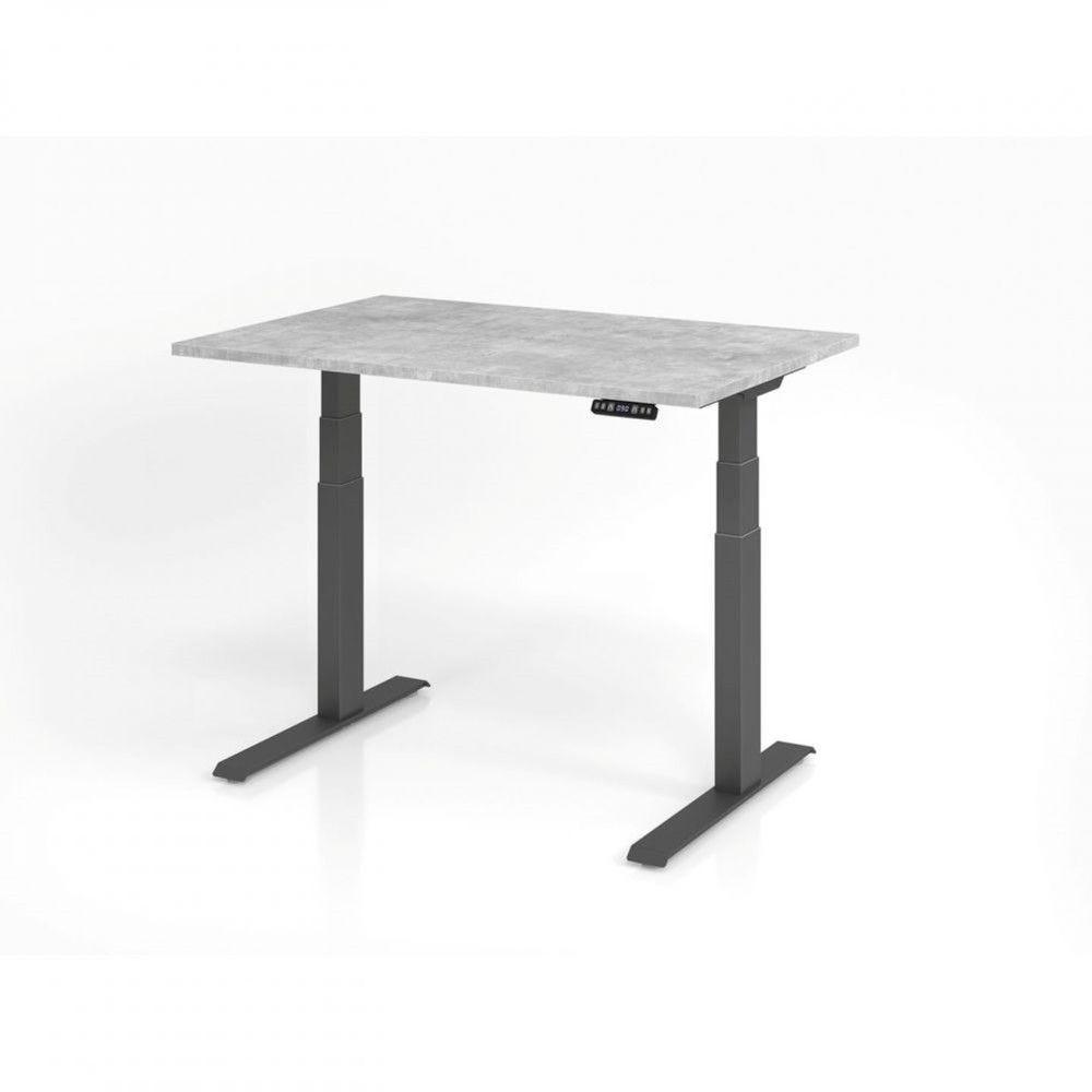 Bureau assis-debout contemporain Jorge / Béton / Longueur 120 cm / Graphite