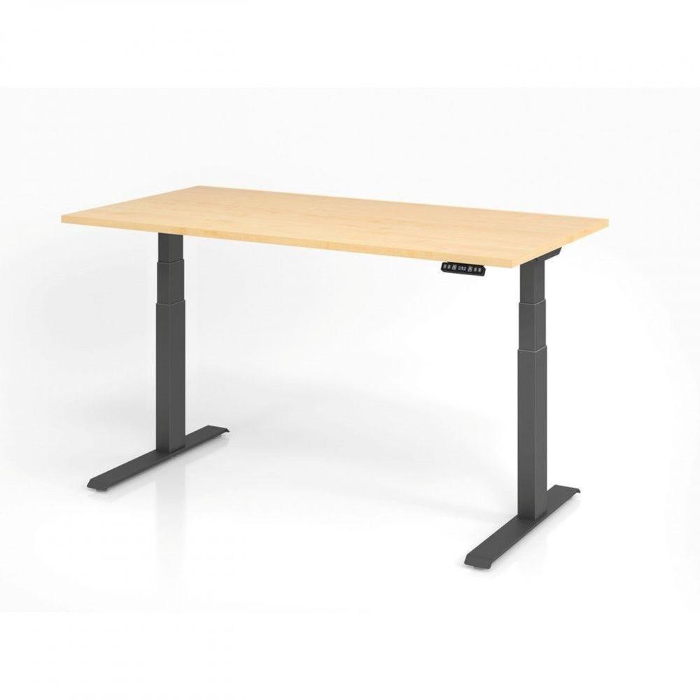 Bureau assis-debout contemporain Jorge / Erable / Longueur 160 cm / Graphite