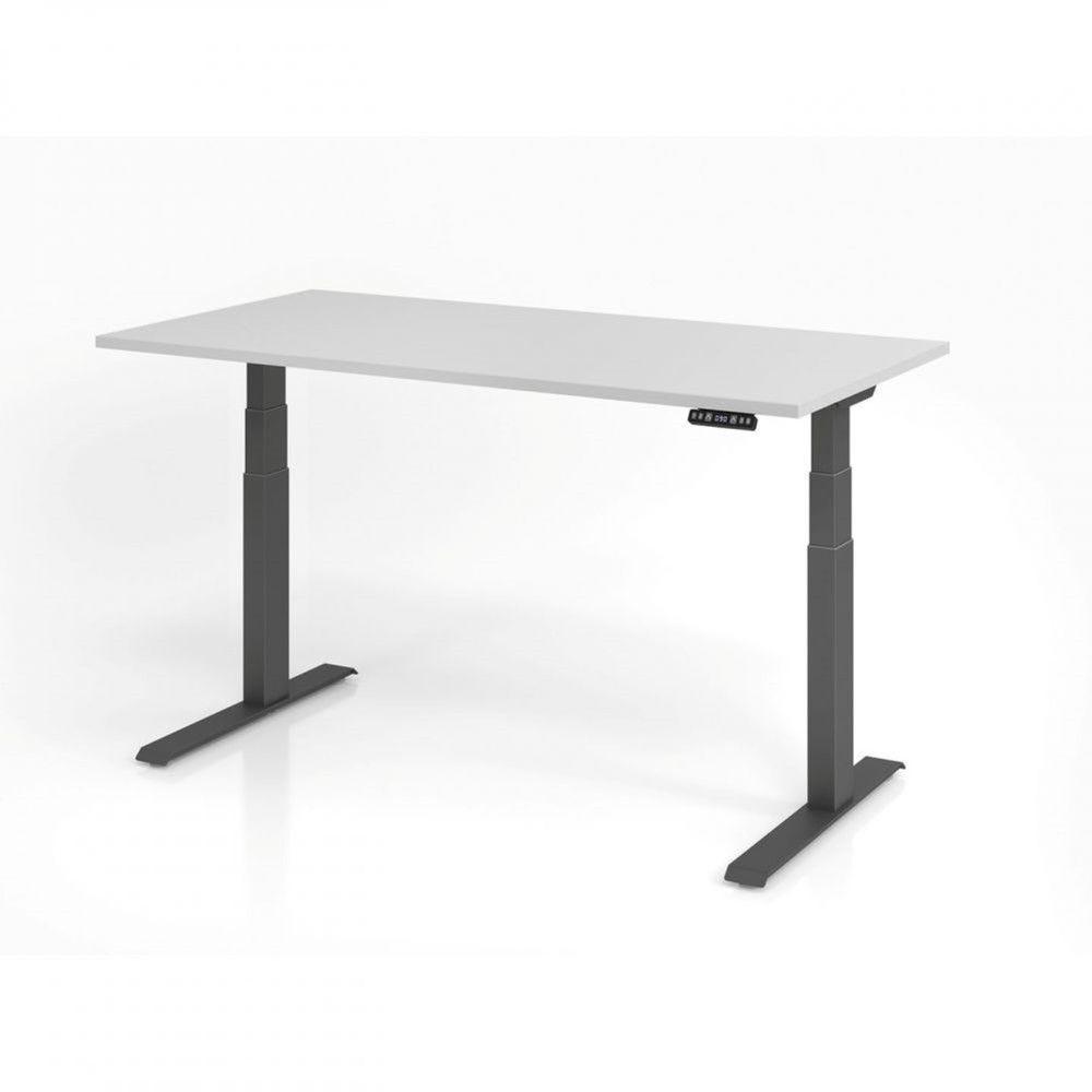 Bureau assis-debout contemporain Jorge / Gris / Longueur 160 cm / Graphite