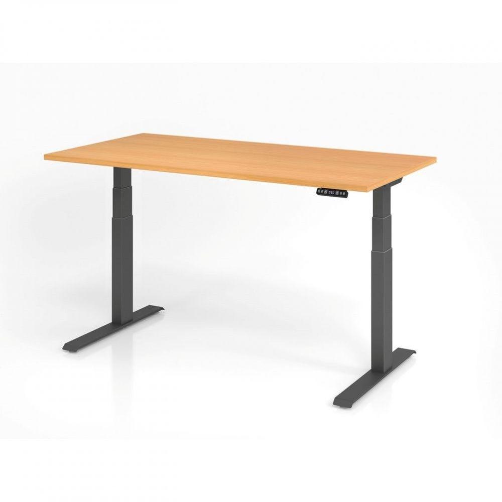 Bureau assis-debout contemporain Jorge / Hêtre / Longueur 160 cm / Graphite