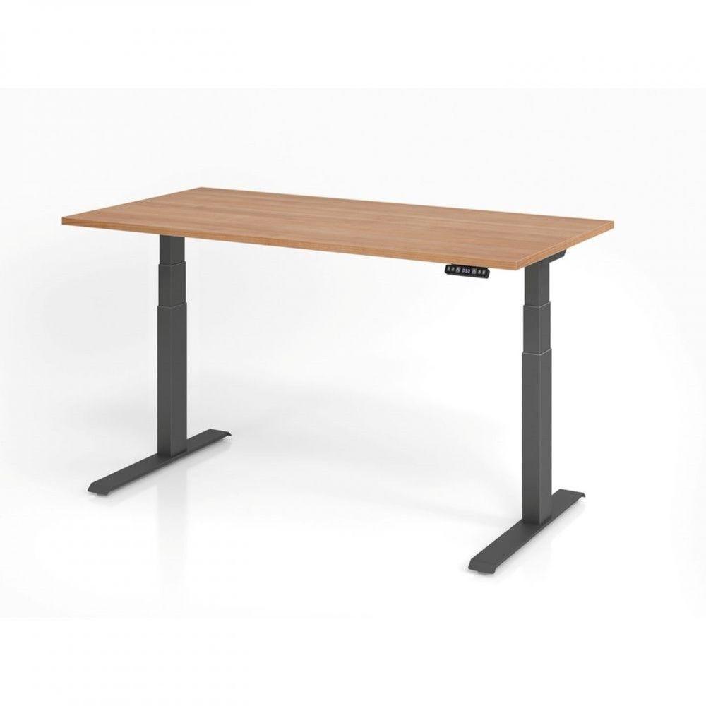 Bureau assis-debout contemporain Jorge / Noyer / Longueur 160 cm / Graphite