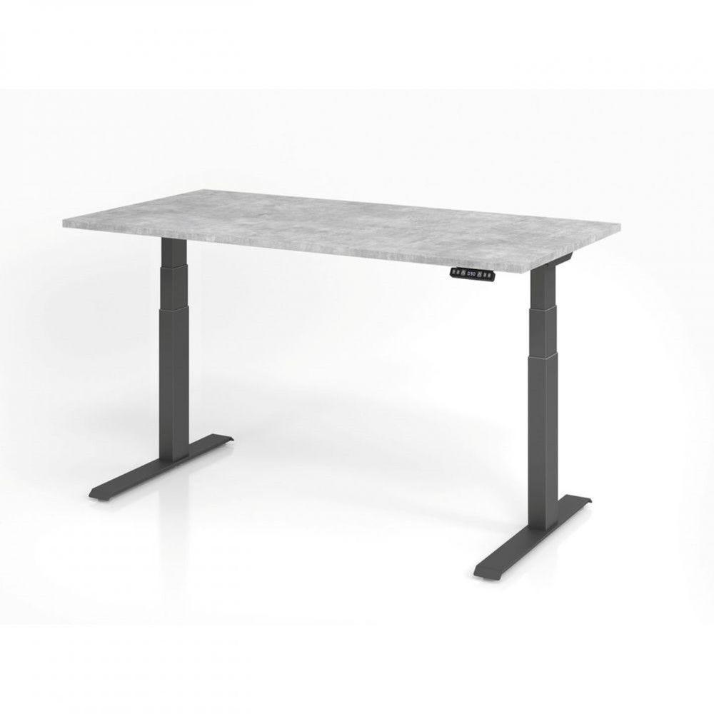 Bureau assis-debout contemporain Jorge / Béton / Longueur 160 cm / Graphite