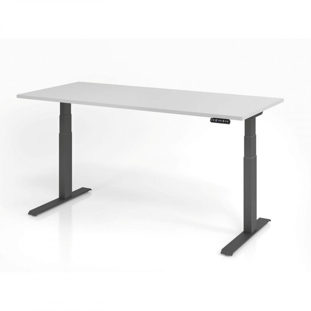 Bureau assis-debout contemporain Jorge / Gris / Longueur 180 cm / Graphite