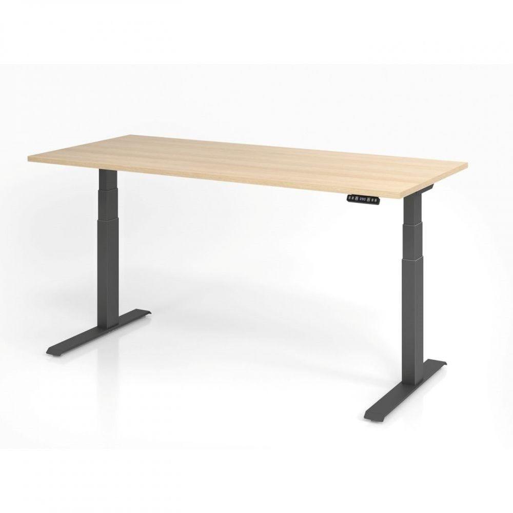 Bureau assis-debout contemporain Jorge / Chêne / Longueur 180 cm / Graphite