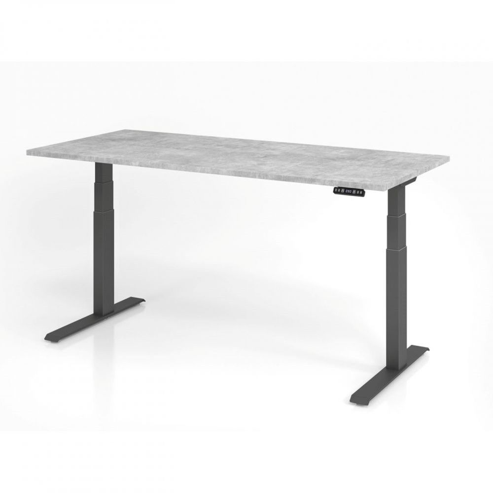 Bureau assis-debout contemporain Jorge / Béton / Longueur 180 cm / Graphite