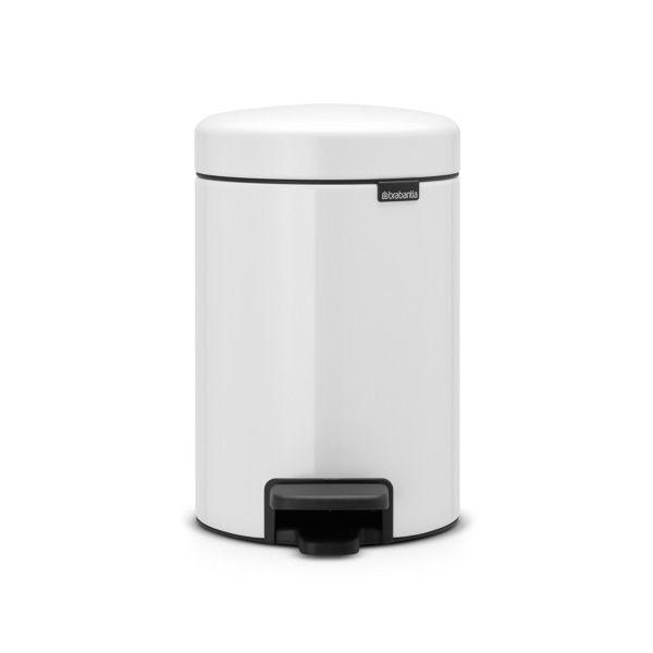 Poubelle à pédale newicone 3l blanc - dimensions : h 26,4 x l 17 x p 23,5 cm