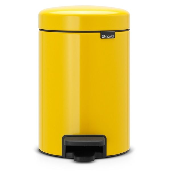 Poubelle à pédale newicone 3l jaune paquerette