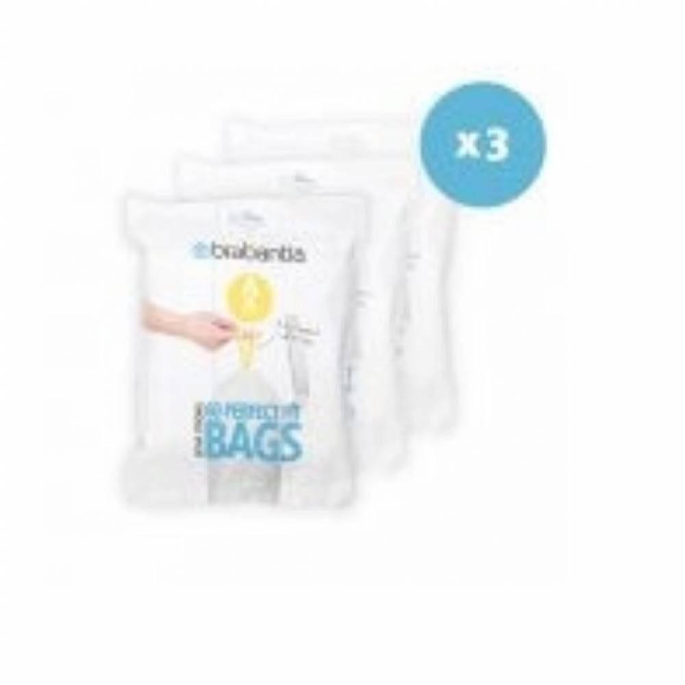 Sacs blanc pour poubelles 3l - 12 distributeurs de 60 sacs
