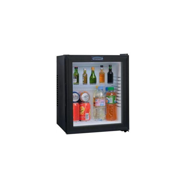 Minibar courtoisy 30l porte vitrée - dimensions : l 38 x p 38 x h 47,5 cm