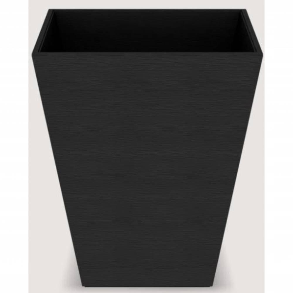Corbeille pyramid wave leatherette - dim h30 x l25 x l25 cm - noir