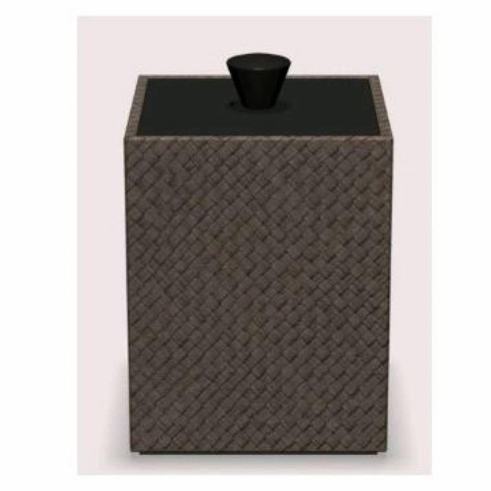 Boite cube pandan - dim h13 x l9 x l9 cm - java