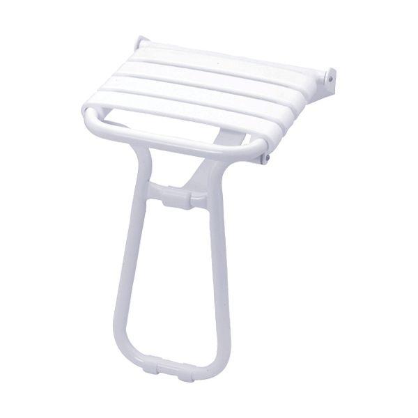Siège de douche escamotable blanc
