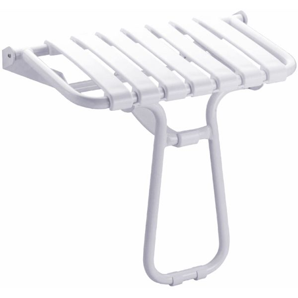 Siège de douche escamotable grande taille blanc