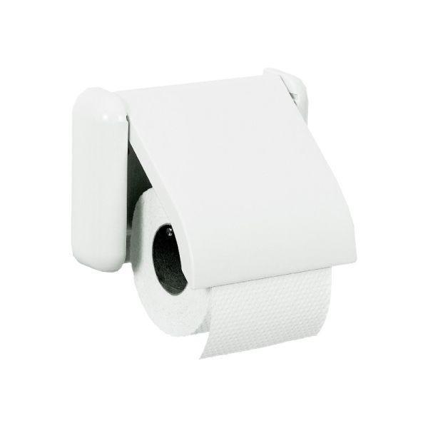 Porte-rouleau papier hygiénique abs blanc ligne basic - l180 x l160 x h45 mm