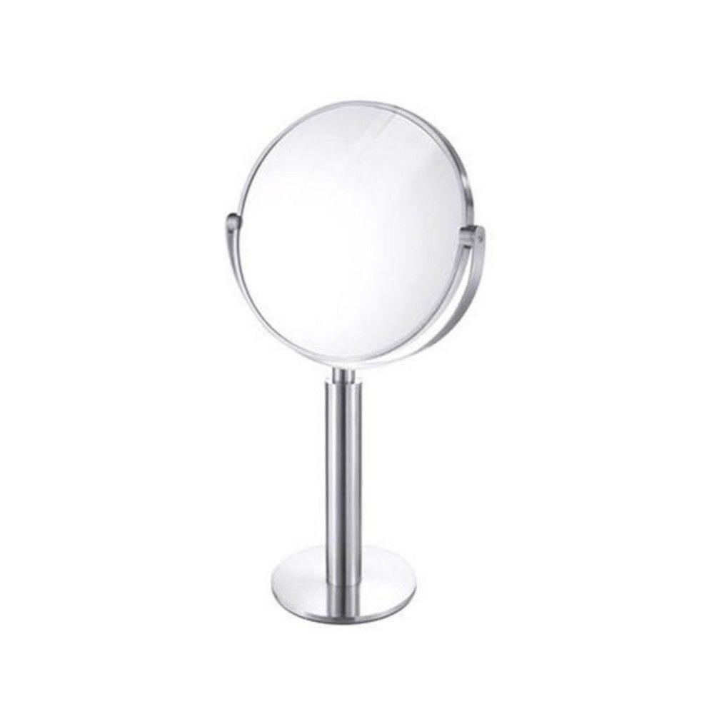 Miroir inox brossé felice sur pied
