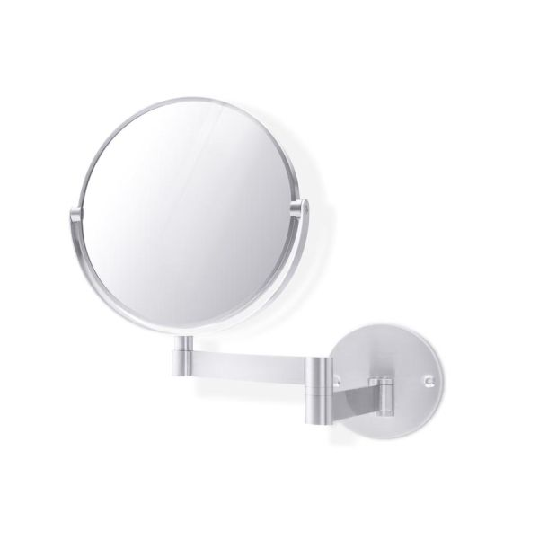 Miroir inox brossé felice sur bras double