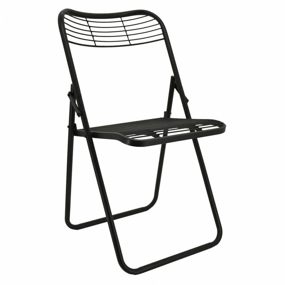 Chaise pliante en métal 51x45x82 H siège 42