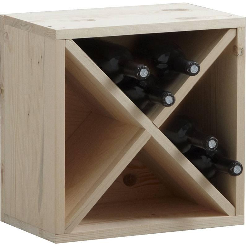 Casier à bouteilles en épicéa 40x25x40