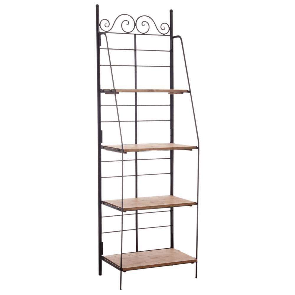 Etagère pliante en métal et bois largeur 67 cm  67x41x202