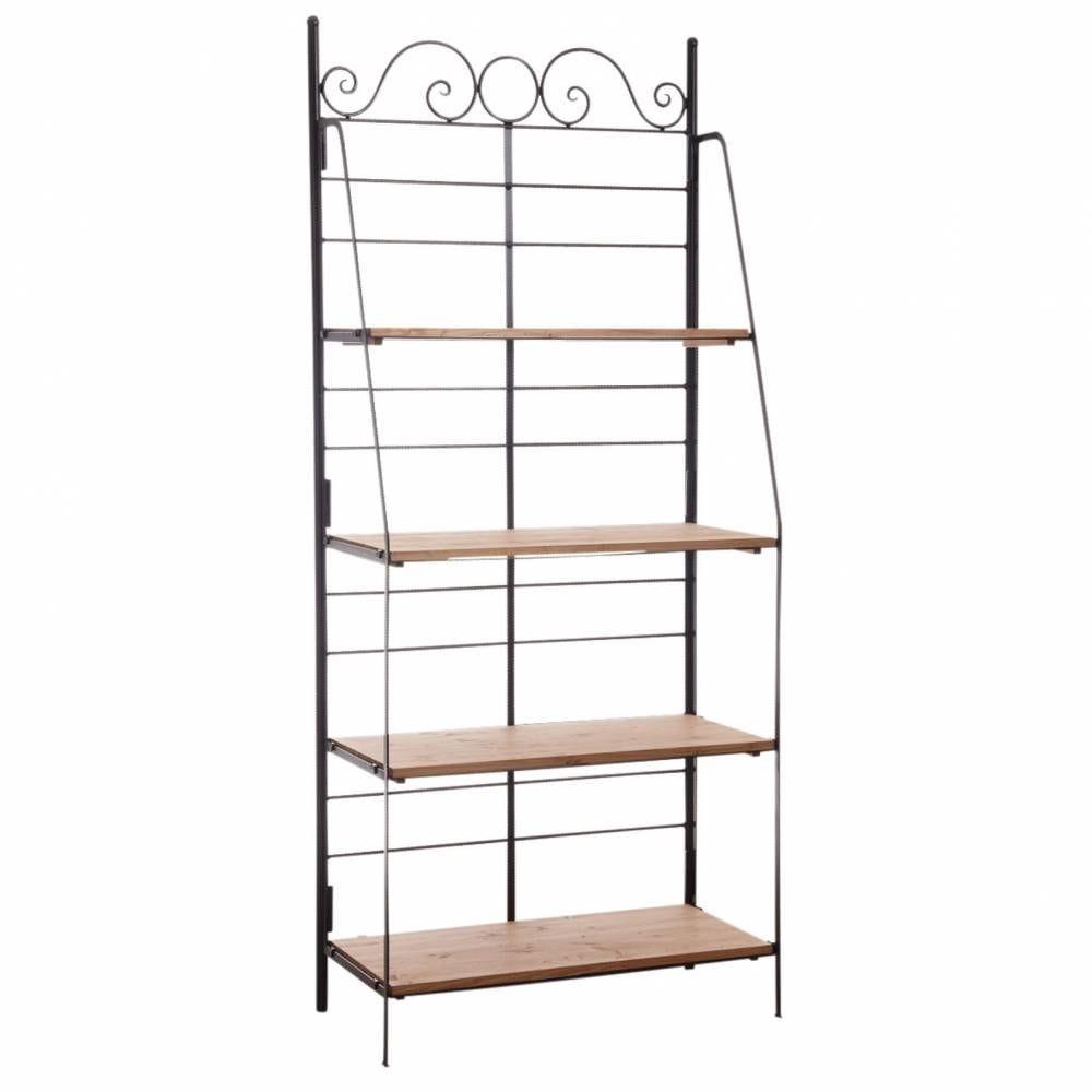 Etagère pliante en métal et bois largeur 90 cm  90x41x202