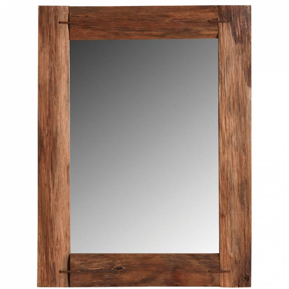 Miroir en chêne teinté