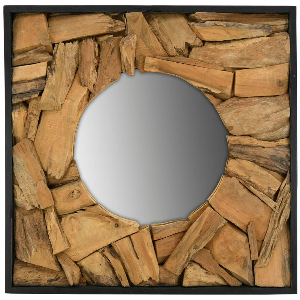Miroir en teck naturel