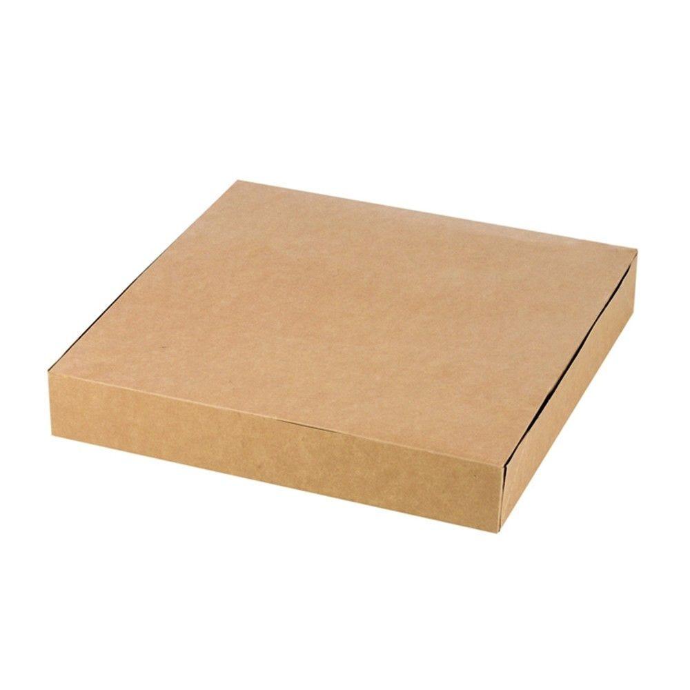 Boîte pâtissière carton kraft brun 23 x 23 cm Par 25