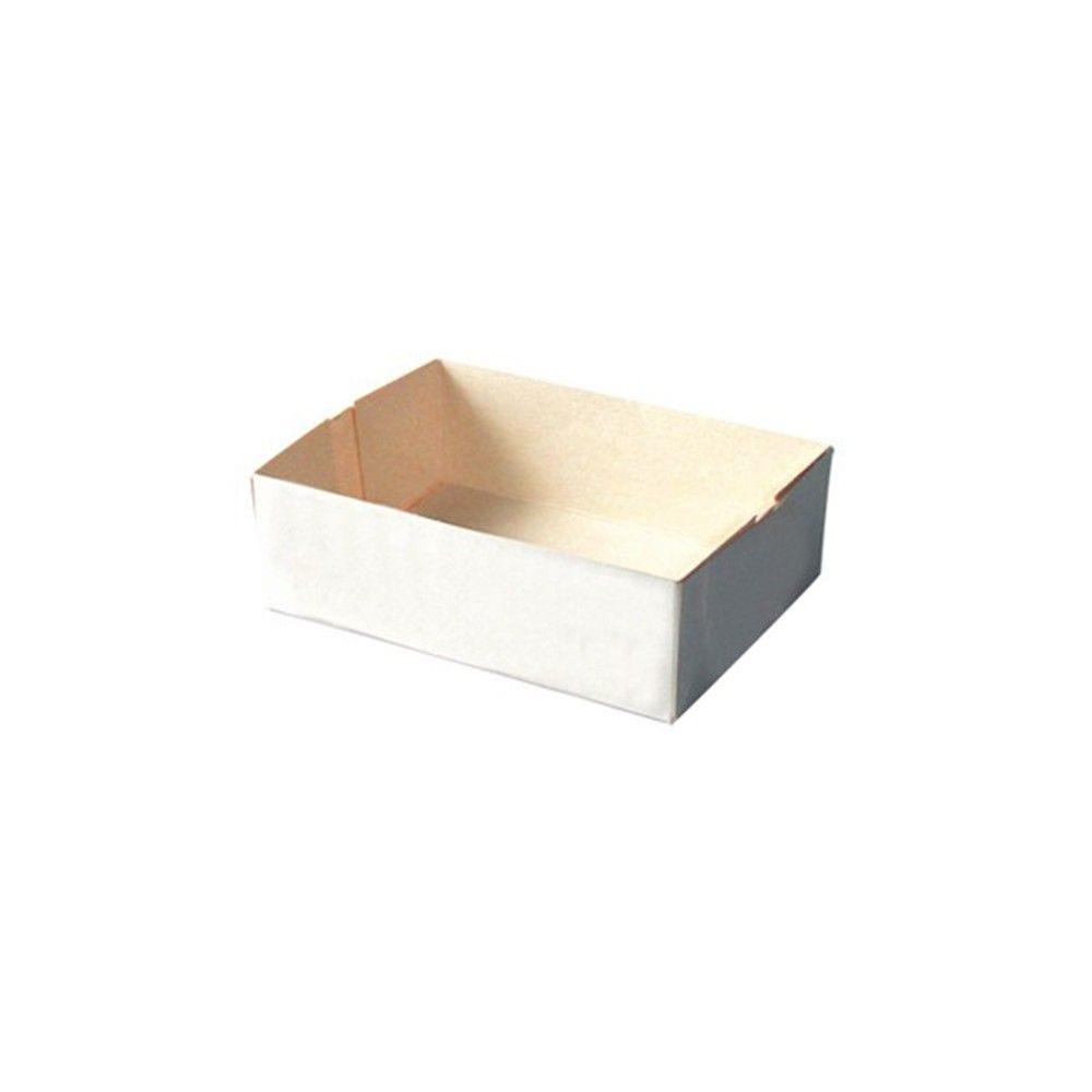 Boôte pâtissière carton blanc sans couvercle 14 x 10 cm Par 25