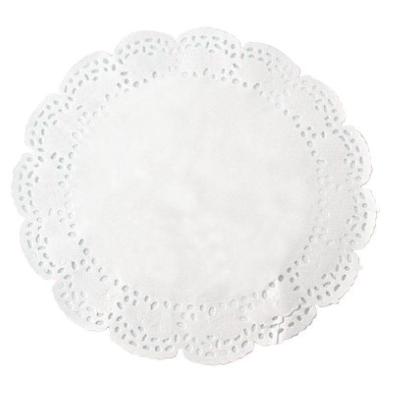 Dentelle papier blanc ronde 12 cm Par 250