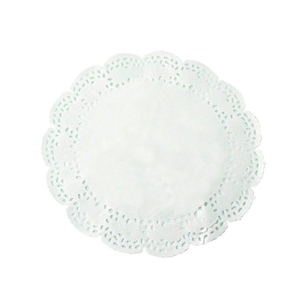 Dentelle papier blanc ronde 15 cm Par 250