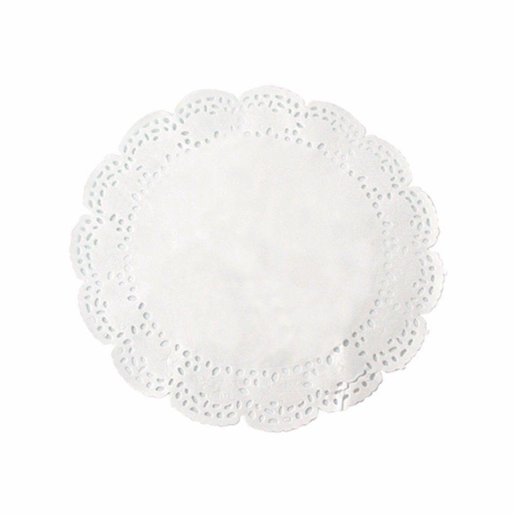 Dentelle papier blanc ronde 19 cm Par 250