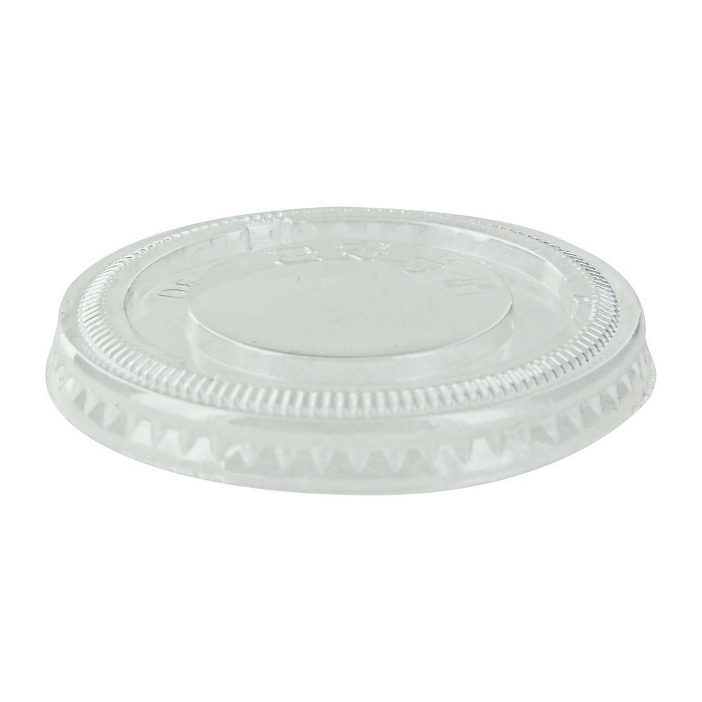Couvercle PET plat transparent 6,2 cm Par 125
