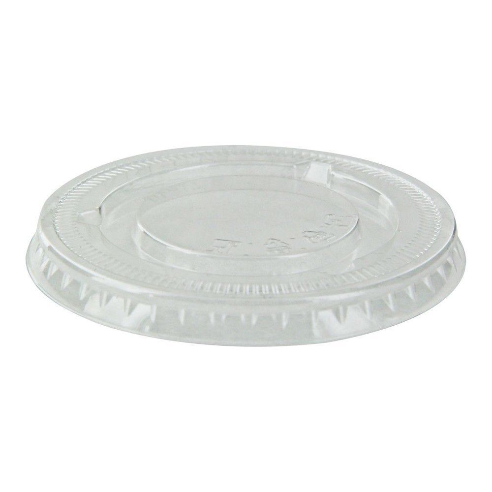 Couvercle PET plat transparent 7,4 cm Par 100