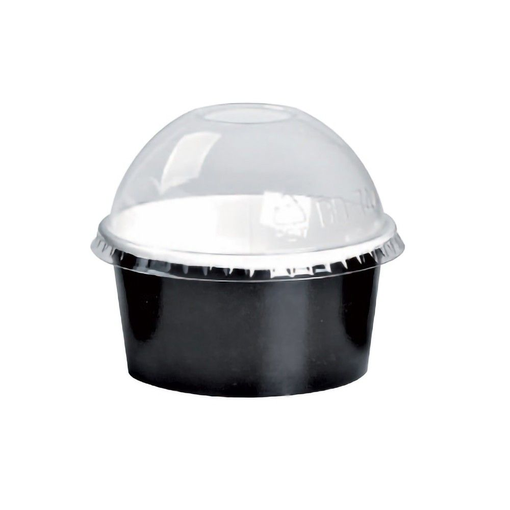 Couvercle PET transparent dôme 8 cm Par 100