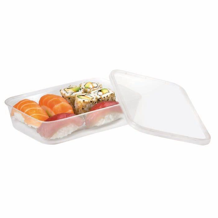 Boite plastique PP rectangulaire avec couvercle 24,3g Par 50 unités