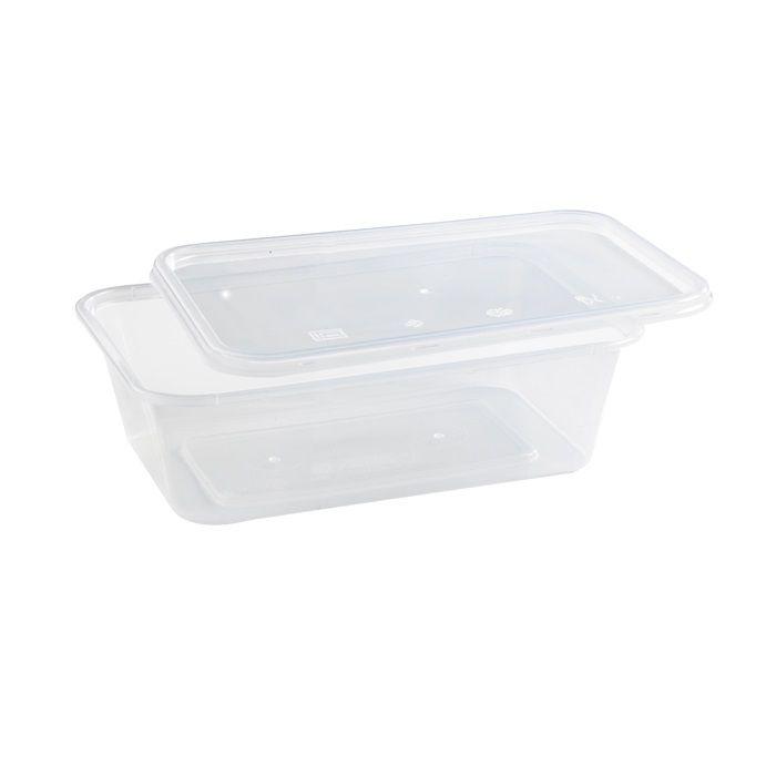 Boite plastique PP rectangulaire avec couvercle 28,9g Par 50 unités