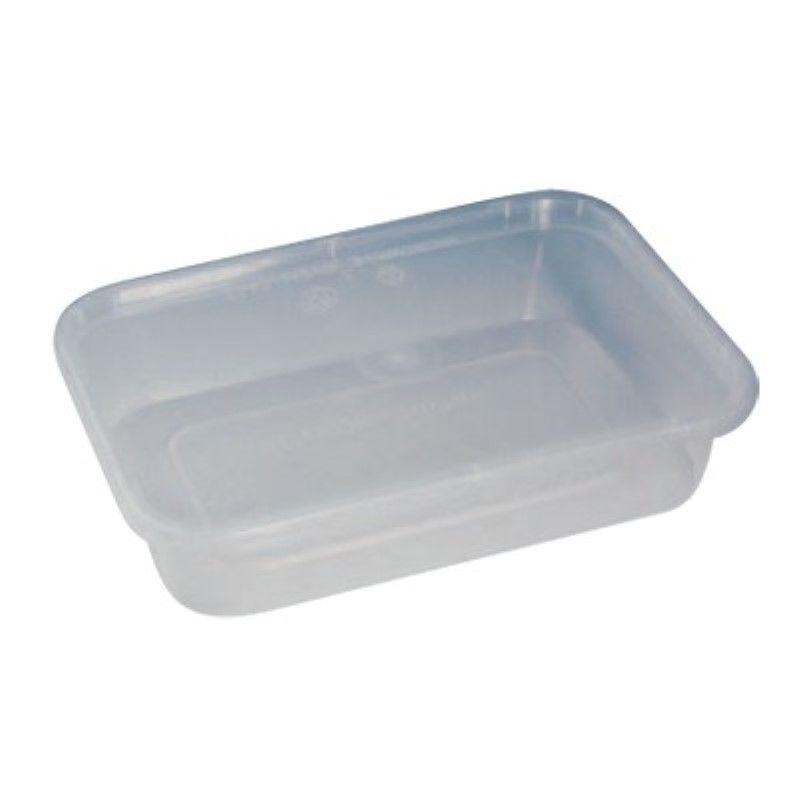 Boite plastique PP rectangulaire translucide avec couvercle 30g Par 25 unités
