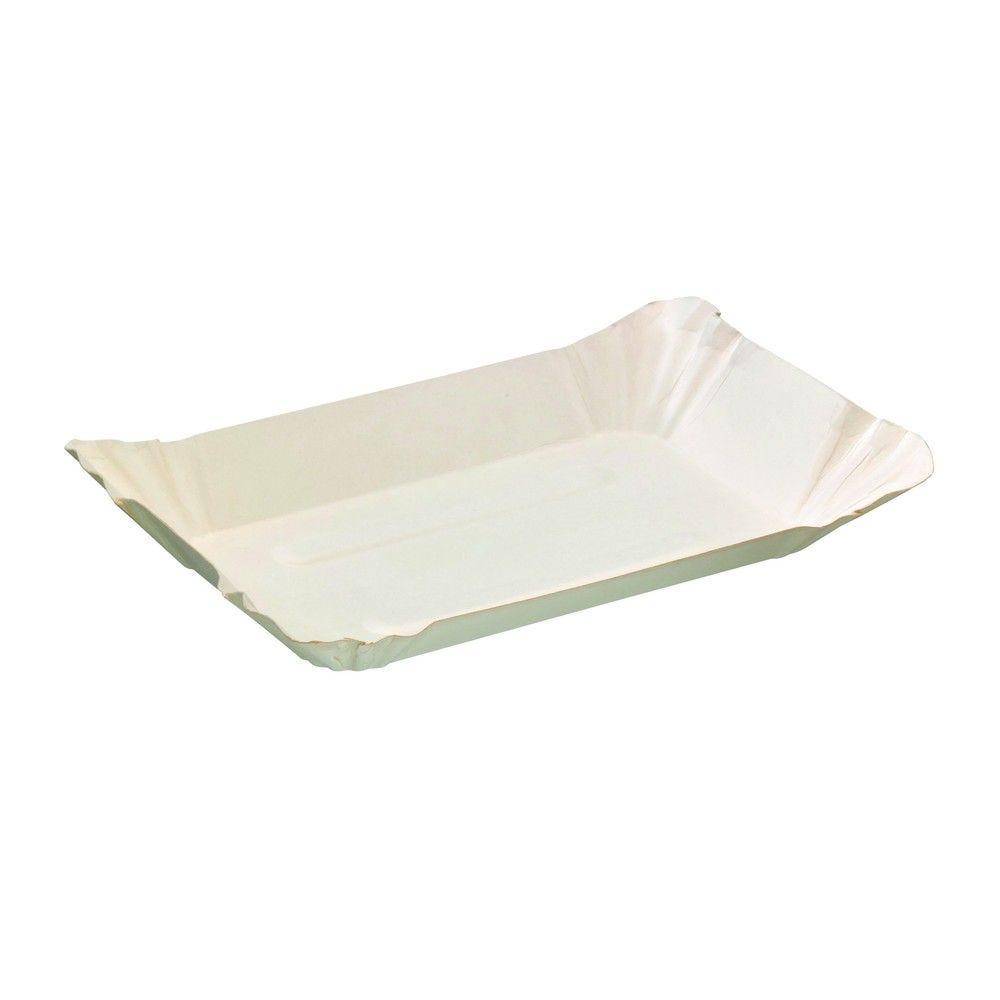 Assiette barque en carton blanc 18 cm Par 250