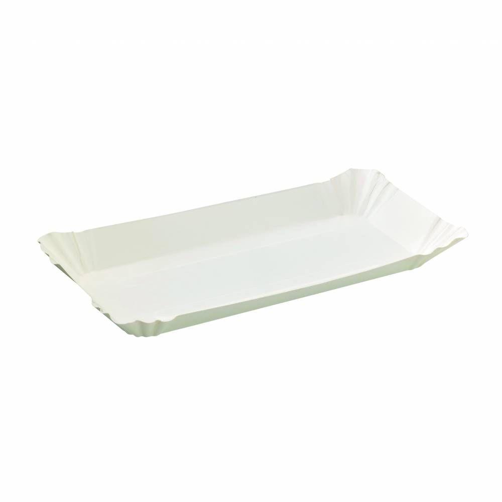 Assiette barque en carton blanc 23 cm Par 250