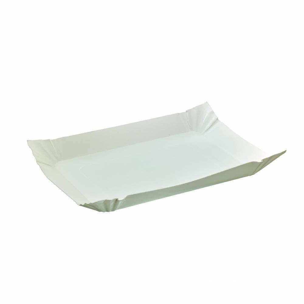 Assiette barque en carton blanc 24 cm Par 250