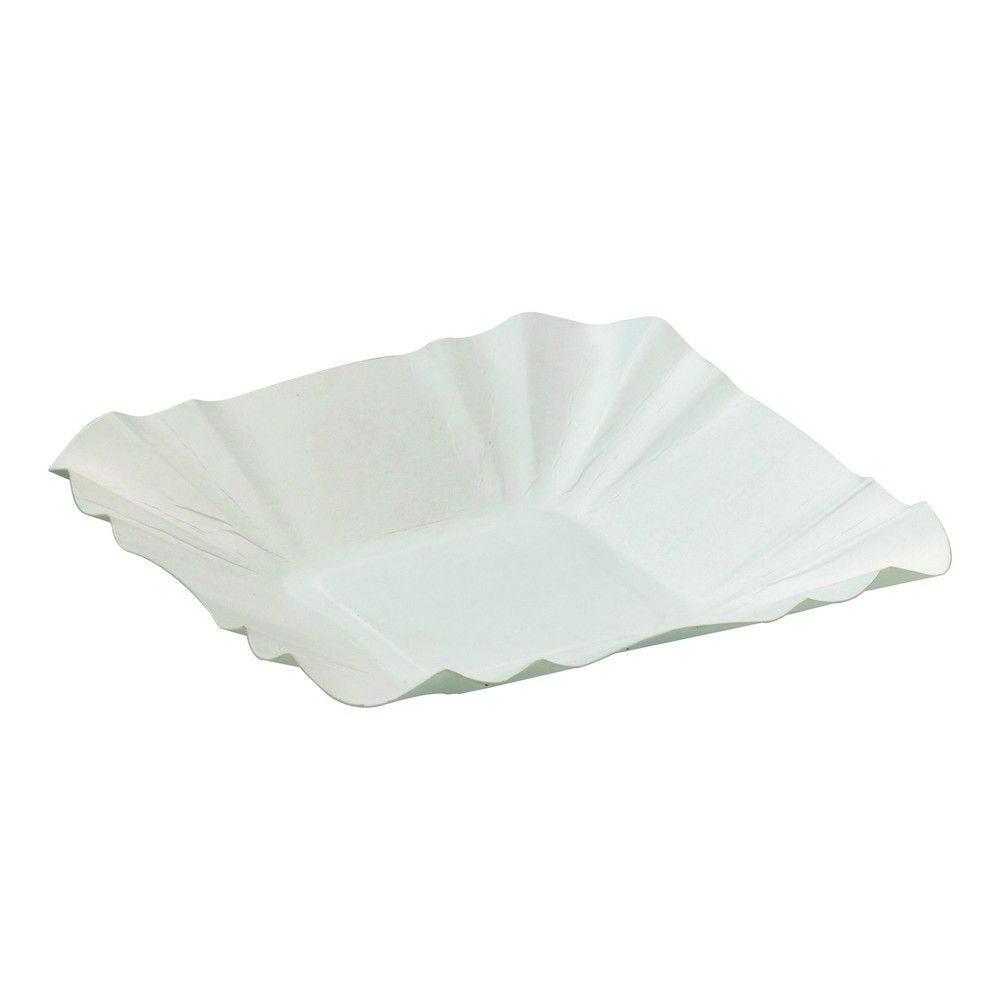 Assiette barque en carton blanc 32 cm Par 250
