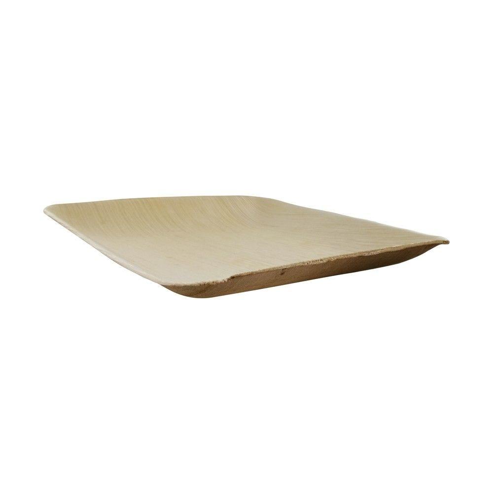 Assiette carrée en palmier 16 cm Par 25