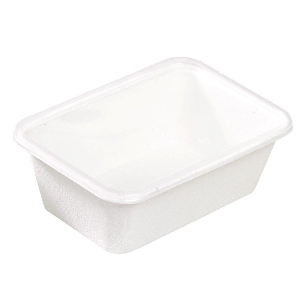 Barquette blanche en pulpe 17,2 x 11,6 cm 75 cl Par 25