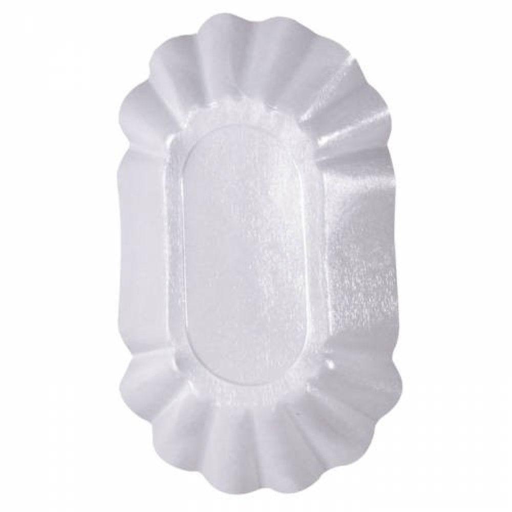 Assiette creuse ovale en carton laminé blanc 22 cm Par 250
